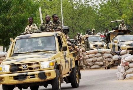 Nigerian Army on patrol in Borno, Boko Haram