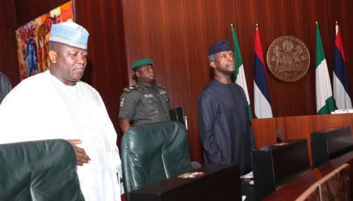 Ag President Yemi Osinajo at the National Economic Council Meeting in Abuja