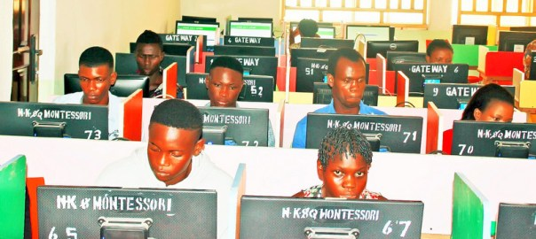 Cleared Candidates for JAMB Unified Tertiary Matriculations Examination (UTME) Computer Based Text writing their examination at a centre in Yenagoa, Bayelsa State on Monday (15/5/17). 02556/15/5/2017/Anthony Okpu/EO/ICE/NAN