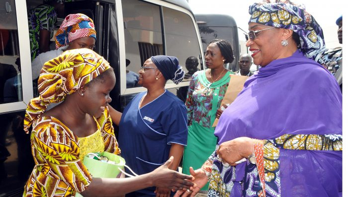 Nigeria's Chibok girls, frred by Boko Haram, begin rehabilitation