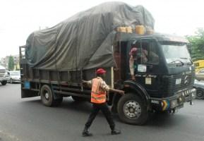 FIle photo of FRSC officers apprehending a truck driver [Photo: NAN]