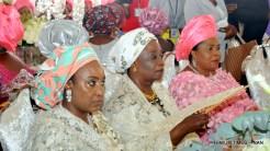 FROM LEFT: Former First Ladies, Hajia Turai YarÁdua, Justice Fati Abubakar and Dame Patience Jonathan, at the marriage of Halima Babangida, last daughter of former Military President Ibrahim Babangida in Minna on Friday (12/5/17).02631/12/5/2017/Callistus Ewelike/BJO/NAN