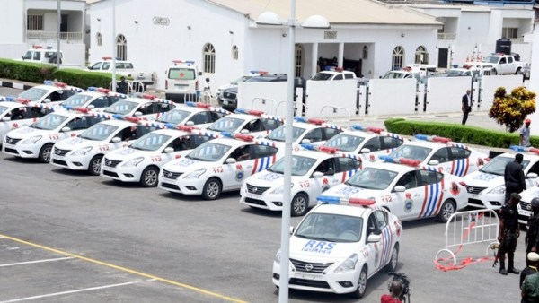Cross Section of the 20 Patrol vehicles presented to the Rapid Response Squad by the Lagos State Government at the Lagos House, Ikeja, on Monday, May 15, 2017.