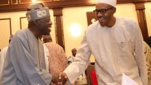 File photo of President Muhammadu Buhari and Tinubu used to illustrate the story.