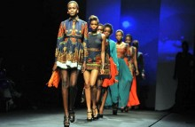 Models on the runway [Photo Credit: Fashion Walk Africa]
