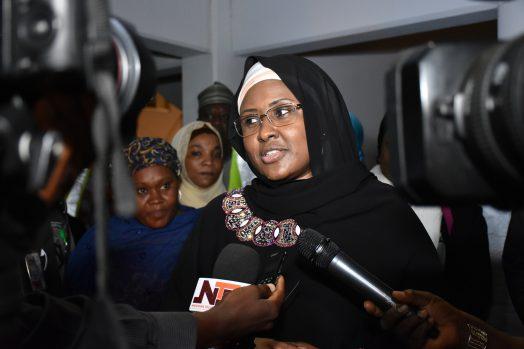 Aisha Buhari on return from UK on Tuesday, June 6, 2017