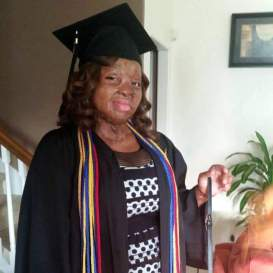Nkechi Okwuchi in her graduation gown