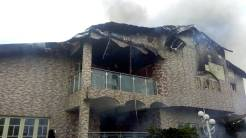 A view of the burnt home of former Chief of General Staff, Oladipo Diya.