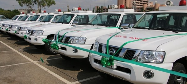 31 AMBULANCES DONATED BY THE JAPANESE GOVERNMENT TO THE FEDERAL MINISTRY OF HEALTH. Photo Credit: {NAN}.