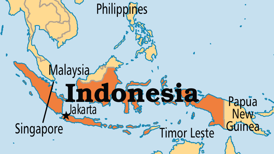 Indonesia map - Indonesia president tells cabinet to fix regulations, create jobs