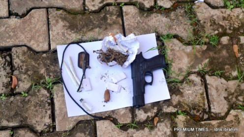 Pistol recovered by the Police