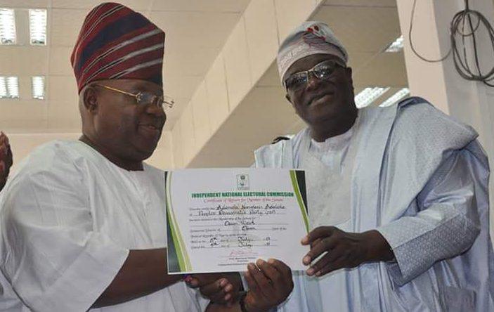 Osun West: INEC issues certificate of return to Adeleke