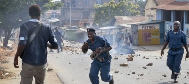 A file photo of a chaotic scene in Burundi used to illustrate the story [Photo Credit: BBC.com]