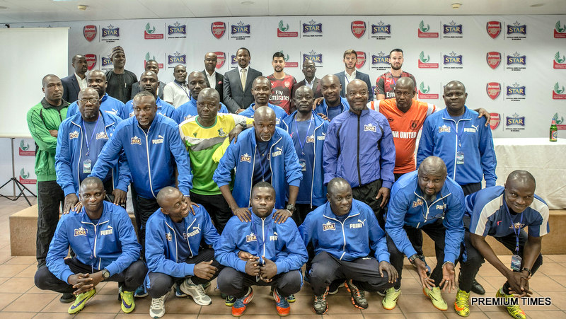A cross section of the Nigerian league Elite coaches and Officials of LMC and Arsenal