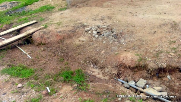 Unreconstructed drainage in the estate