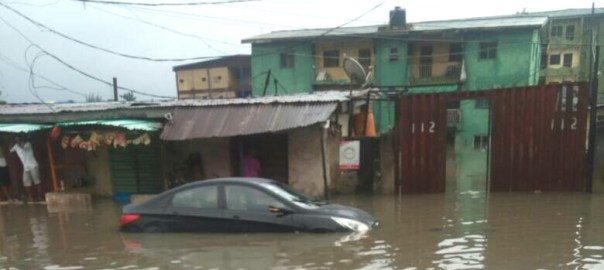 Sabo Yaba submerged by flood