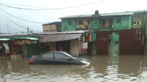 File photo of Sabo Yaba submerged by flood