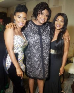 Iyabo Ojo, Ronke Oshodi Oke and Mercy Aigbe at the event