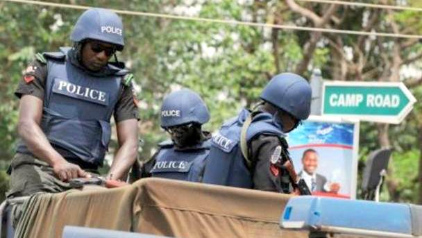 Nigerian police in Borno