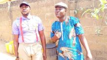 Bolaji Amusan, popularly called Mr Latin (R), and Odunlade Adekola (L)