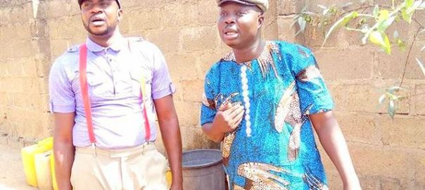 Bolaji Amusan, popularly called Mr Latin (R), and Odunlade Adekola (L)