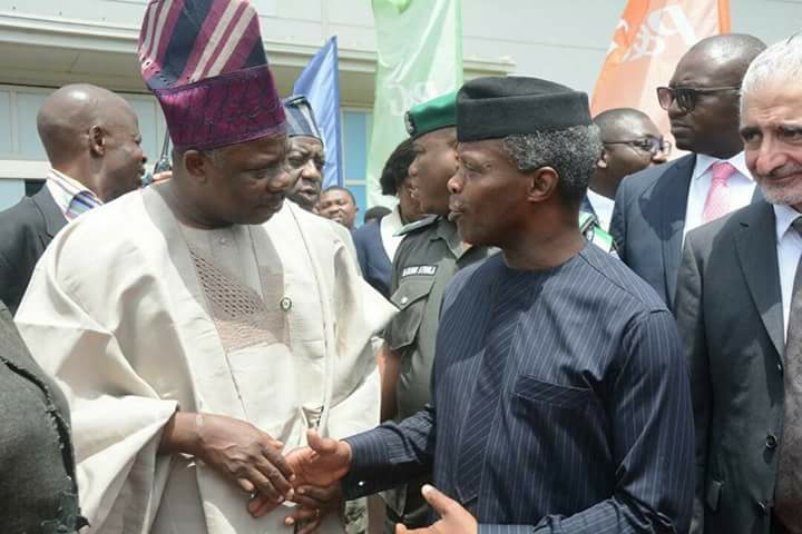 Ag Yemi Osinbajo and Governor Amosun [Photo: Ogun State Government]