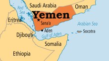 Yemen on map [Photo Credit: Operation World]