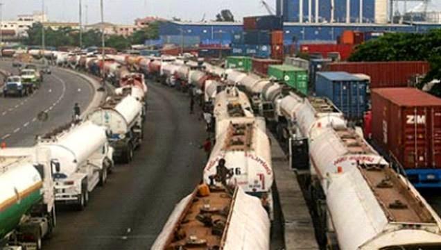 Tankers in Apapa