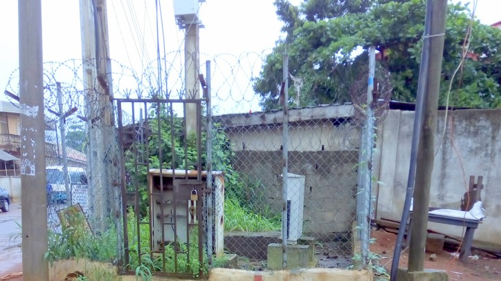 The site where the transformer was removed