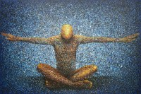 transition by chidi kwubiri, acrylic on canvas, 200 x 300 cm, 2017