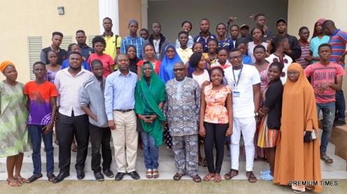 Participants, facilitators and mentor of LASU Campus Journalism Clinic