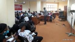 Mr. Idris Akinbajo and FUT Minna Campus Journalists