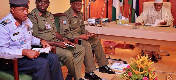 Buhari presides over Security Council meeting with military chiefs, Police IG others