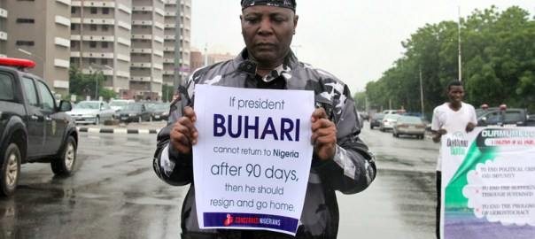 Charly Boy during the #ResumeOrResign Protest [Photo Credit: The Guardian Nigeria]