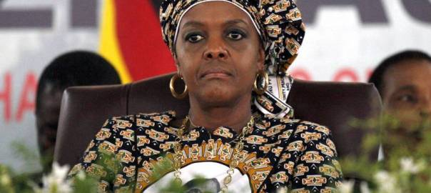 Zimbabwean first lady Grace Mugabe. [Photo Credit: Daily Maverick]