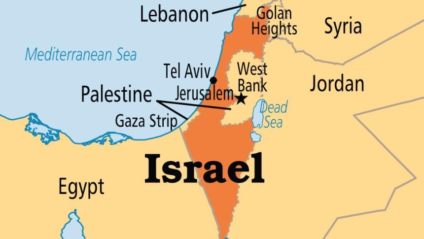 Israel on map