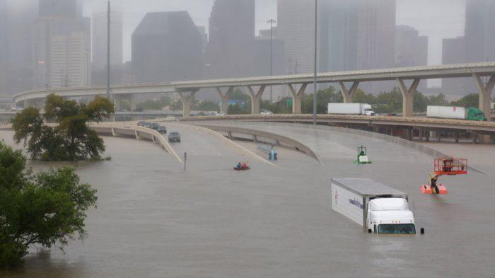 Texas flood. [Photo credit: Sky News]