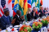 Donald Trump in his meeting with African leaders 2