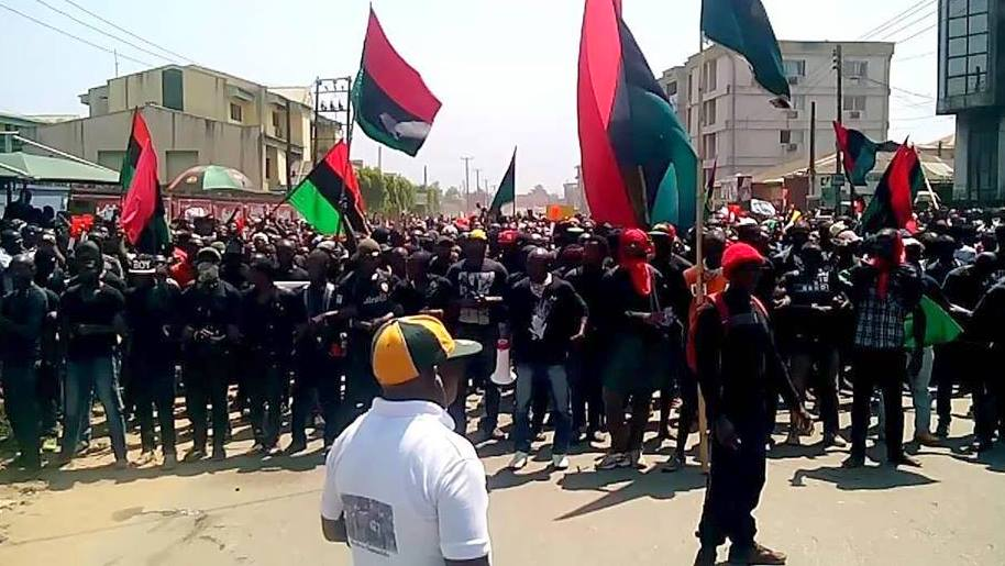 IPOB members used to illustrate the story.