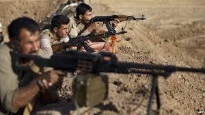 Kurdish fighters. [Photo credit: BBC news]