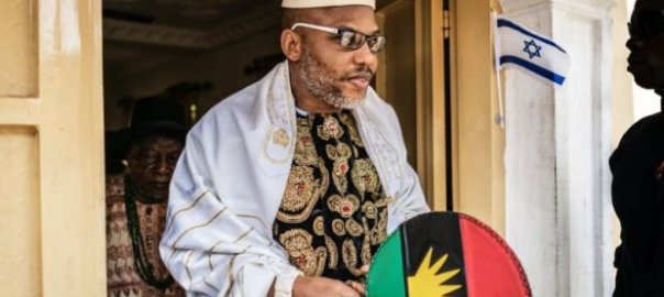 Leader of the Indigenous People of Biafra, Nnamdi Kanu. [Photo credit: Daily Times Nigeria]