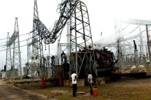 A power transmission station that was gutted by fire in Jos on Wednesday (13/9/17). 04868/13/9/2017/ Sunday Adah /NAN