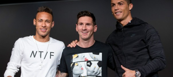 Neymar, Messi and Ronaldo [Photo: Goal.com]