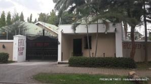 Sealed mansion of embattled civil servant, Abdulrasheed Maina by EFCC. [Photo by Abdulaziz Abdulaziz, Date: 10/23/2017]