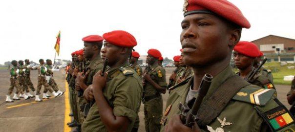Cameroonian soldiers. [Photo credit: Army.mil]
