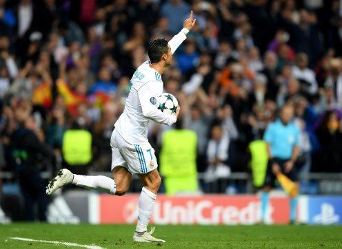 Christano Ronaldo after scoring the equalizer against Tottehnam Hostspurs