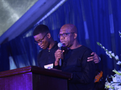 Dapo Abiodun giving his speech
