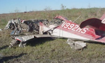 Scene of a plane crash used to illustrate the story [Photo: PM News]
