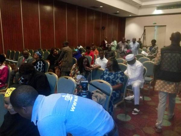 Participants at the Buhari Meter event.