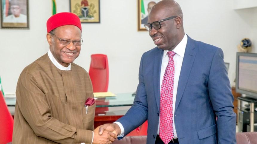 Obaseki and Emeka Anyaoku
